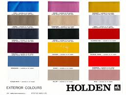 Hq Holden Colour Chart Hq Exterior Colour Charts Hq Monaro Coupe Reference Site