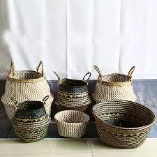 Online Shop <b>Nordic Style Hand-woven</b> Storage Basket Flower Pot ...