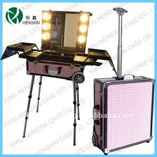 professional makeup case with lightirror re re