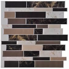 Peel And Stick Tile Designs Us 29 69 6 Tiles Peel And Stick Wall Paper Vinyl Sticker Kitchen Backsplash Tiles 12