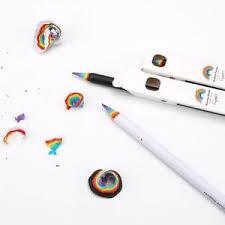 image is loading 2pcs rainbow black pencil writing pens student