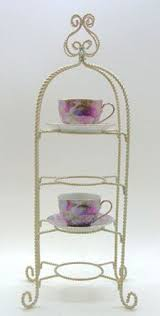 Tea Cup Display Stand teacup stand display IRON Tea Cup Saucer Display Stand 100 Tiered 1