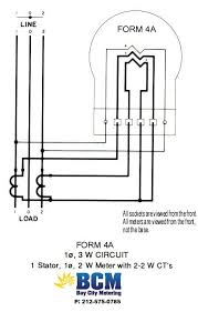 wiring diagrams bay city metering nyc 208 Volt Meter Base 1 stator 3 wire btmcnct w 2 2w cts