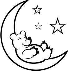 Small Picture Teddy Bear Sleep on the Moon Coloring Page Teddy Bear Sleep on