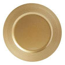 wilko charger plate gold