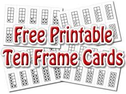10 frame template printable 10 frame blank ten frame template printable 227861