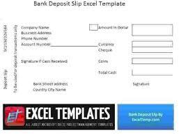 Deposit Templates Free Deposit Slip Template Bank Excel Military Co Templates