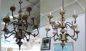 19th century italian wood and iron chandelier 4250 00 italianwoobironchandelier 1