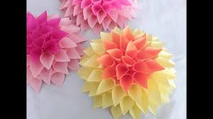 Dahlia Flower Making With Paper Diy Large Paper Dahlia Tutorial