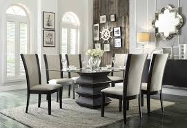sophisticated in its simplicity the havre beige collection furniture will be the center of attention dining room