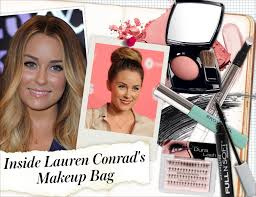 lauren conrad lets us snoop through the contents of her makeup bag and shows us that she s one of those women who has it all figured out