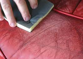 smooth the surface with the colourlock leather sanding pad