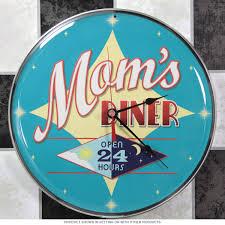 Retro Kitchen Wall Clocks Moms Diner Open 24 Hours Wall Clock Kitchen Clocks