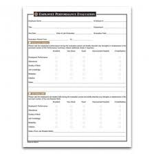 Employee Evaulation Form Employee Performance Evaluation Form Performance Appraisal And