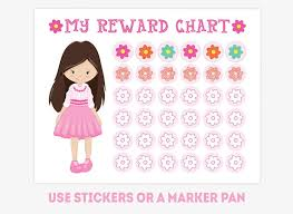 Pink Girl Reward Chart Printable Good Behavior Chart Habit