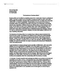 the importance of business ethics international baccalaureate page 1 zoom in