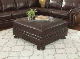 oversized leather ottoman. Plain Leather Banner  Coffee Oversized Accent Ottoman With Leather Z