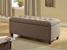 grey tufted storage bench. Gorgeous Grey Tufted Storage Bench With