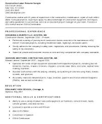 Construction Job Resume Workers Worker Download For Sample ...