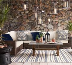 Classic polished wooden entryway bench Hall Tree Ease Into Summer With Our Newest Arrivals In Outdoor Furniture Vintage Foyer Glass Wood And Metal Coffee Tables Pottery Barn