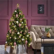 Weihnachtskugel Set 30 Tlg Festival Rosébronzesilber Farblich Sortiert