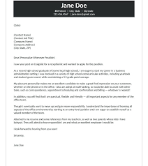 Entry Level Medical Office Administration Jobs Cover Letter Examples