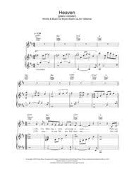 heaven piano sheet music download heaven piano version sheet music by dj sammy sheet