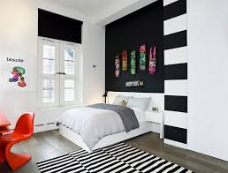 Deep Grey Colors Wall Paint White And Black Bedroom Minimalist White Beauteous Wall Painting Designs For Bedroom Minimalist