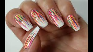 Easy Summer Nail Art Easy Summer Nail Art Abstract Rainbow Nails Nail It Art