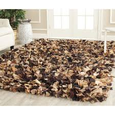 black and white shag rug  trendy interior or modern shag rugs
