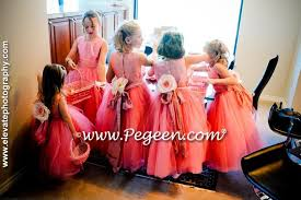 girls dress for wedding. lavender and wisteria silk tulle flower girl dress girls for wedding