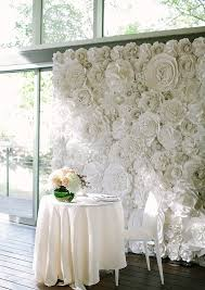 White Paper Flower Wall Picture Of A White Paper Flower Wall For The Sweetheart Table