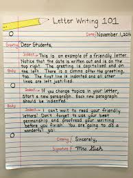 Friendly Letter Format For 3rd Grade Template Writing