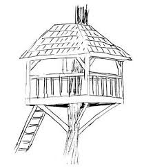 how to draw a treehouse step by step.  Draw Picture Of AWESOME TREEHOUSE Throughout How To Draw A Treehouse Step By