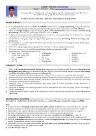 65 Free Valve Design Engineer Resume With Format Resume Template