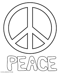 Small Picture Free Printable Peace Sign Coloring Pages Cool2bKids