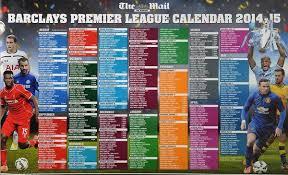 Premier League Wall Chart Premier League Mail Sunday Premier League Wallchart Mail