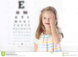 Child Eye Test Chart Child At Eye Sight Test Kid At Optitian Eyewear For Kids