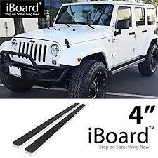 off roader eboard running board 4 silver fits 2007 2018 jeep wrangler jk sport