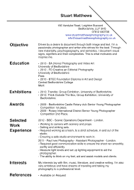 Endearing Photographer Resume Sample Objective For Your Photographer