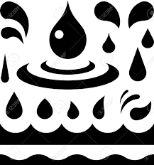 Drops Patterns Unique Water Or Oil Liquid Drops And Wave Patterns Vector Royalty Free