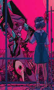 1280x2120 Neon Genesis Evangelion Bye ...