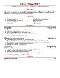 Secretary Resume Template Tomyumtumweb Com