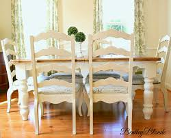 painted dining room furniture ideas. BentleyBlonde: DIY Farmhouse Table \u0026 Dining Set Makeover With Annie Sloan Chalk Paint® Painted Room Furniture Ideas E
