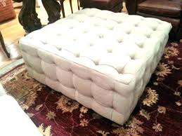 s square leather ottoman coffee table