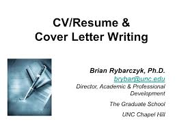 Cv Resume Cover Letter Writing Brian Rybarczyk Ph D Director