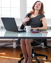 Hot office pic Worker Woman Having Hot Flash In Office Youre Not Pretty Enough Menopausal In The Summertime How To Fight Hot Flashes Sheknows