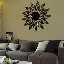 generic sunflower mirror wall sticker bedroom living room decoration wall stickers black
