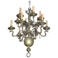 antique 18th century dutch bronze 12 light chandelier with zoomorphic classic tradition ruby lane