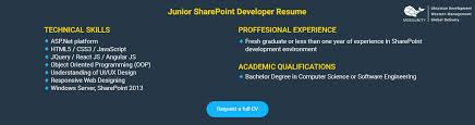 sharepoint developer resume hire certified sharepoint developer mobilunity